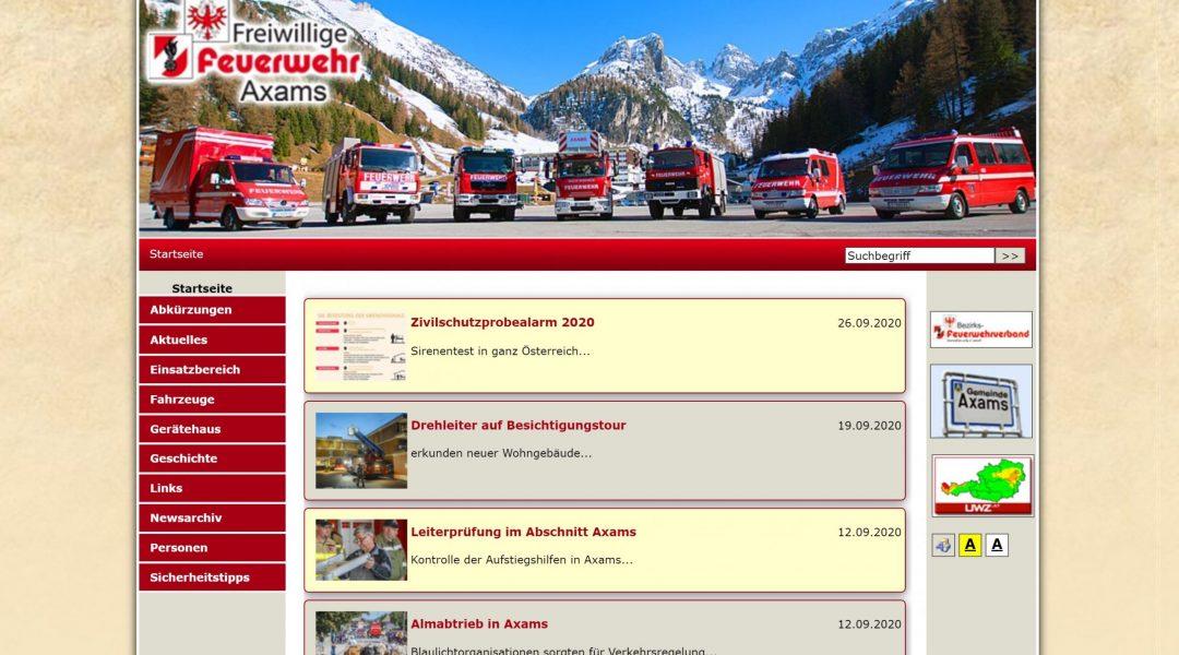 Eine neue Homepage für die Feuerwehr