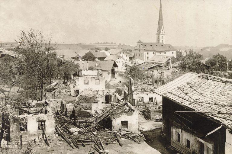 Übersichtsbild Großbrand im Ortsteil Gries