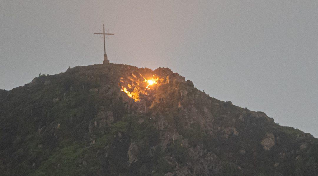 Waldbrand am Hausberg